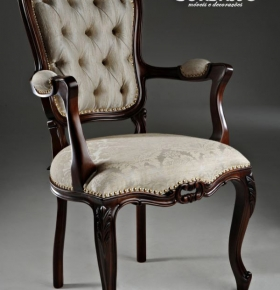 Cadeira Luis XV c/ braço - 0,56x0,47x1,03